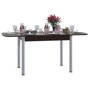 Стол кухонный металлические опоры СО-3м раскладной венге