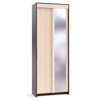 Шкаф купе одна дверь с зеркалом Контур ШР-96.1 дуб венге/белёный дуб