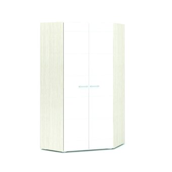 Симба шкаф угловой 2-х створчатый белый глянец