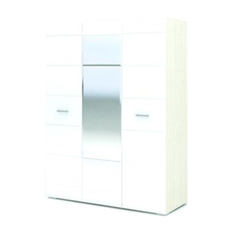 Симба шкаф 3-х створчатый белый глянец