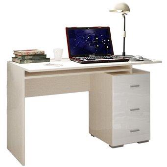 Симба Стол компьютерный белый глянец