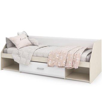 Симба кровать одноярусная белый глянец