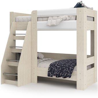 Симба кровать двухъярусная белый глянец