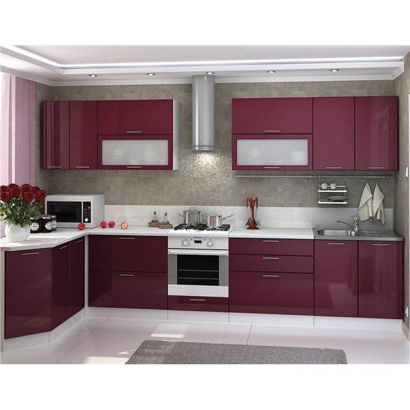 Кухня Глянец бордо
