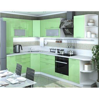 Кухня Глянец олива