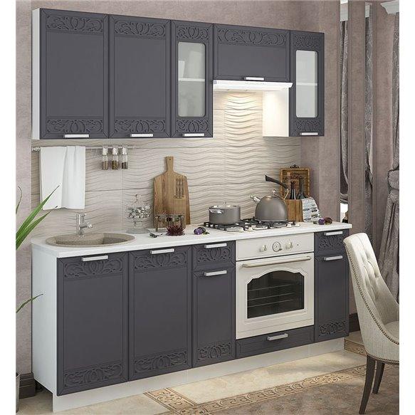 Кухня Орнамент титан