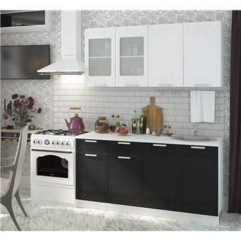 Кухня Орнамент черно-белая