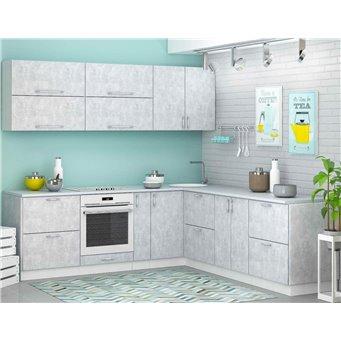 Кухня Бетон белый