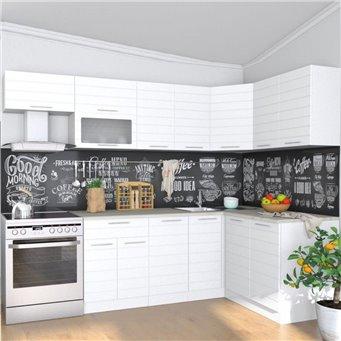 Кухня Ребристая белая