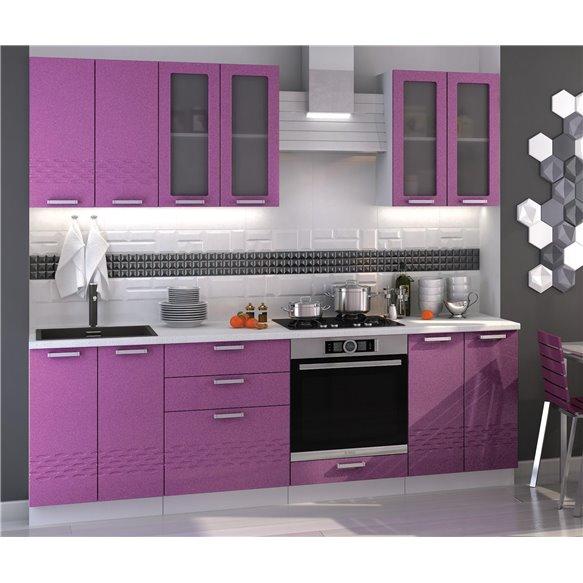Кухня Точки фиолетовая