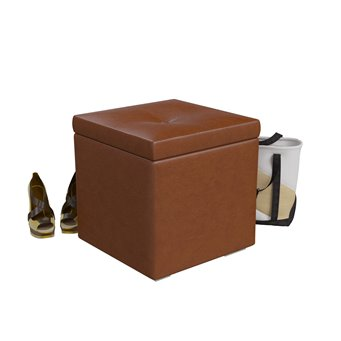 Банкетка Куба 6-5114 коричневая эко-кожа
