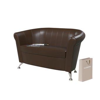 Банкетка Лагуна 6-5156 тёмно-коричневая эко-кожа