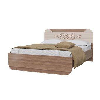 Кровать Пальмира 1600 с ортопедическим основанием ясень шимо тёмный/светлый