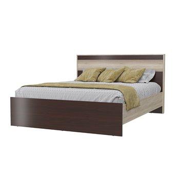 Кровать Румба 1600 с ортопедическим основанием дуб сонома/венге