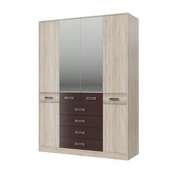 Шкаф 4-х дверный с ящиками Румба 4-4817 дуб сонома/венге