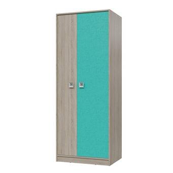 Сити Шкаф для одежды, дуб сонома/аква