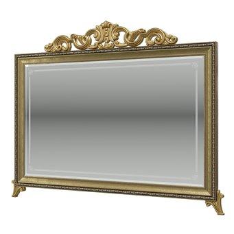 Зеркало с короной Версаль ГВ-06К цвет орех тайский