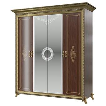 Шкаф 4-х дверный Версаль СВ-01 цвет орех тайский