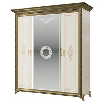 Шкаф 4-х дверный Версаль СВ-01 цвет слоновая кость