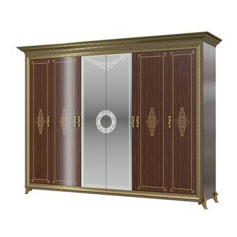 Шкаф 6-ти дверный Версаль цвет орех тайский