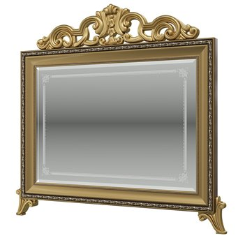 Версаль орех тайский Зеркало с короной