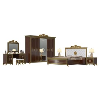 Гарнитур спальный Версаль № 2ОРТ цвет орех тайский