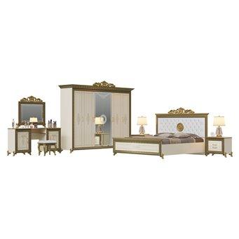 Гарнитур спальный Версаль № 2ОРТ цвет слоновая кость