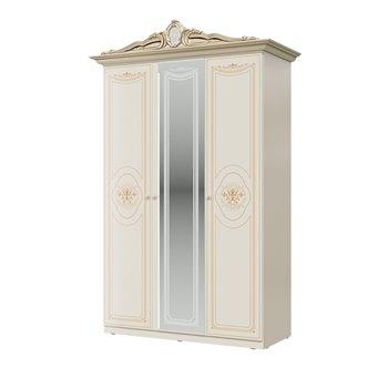 Шкаф 3-х дверный Грация цвет слоновая кость