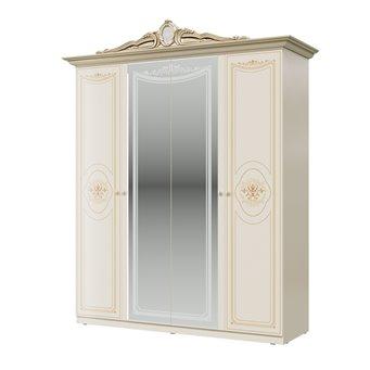 Шкаф 4-х дверный Грация цвет слоновая кость