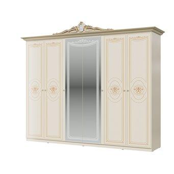 Шкаф 6-ти дверный Грация цвет слоновая кость