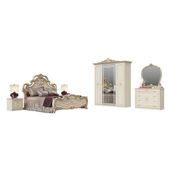 Спальный гарнитур Грация № 1ОРТ цвет слоновая кость кровать с основанием
