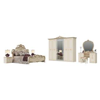 Гарнитур спальный Грация № 2ОРТ цвет слоновая кость кровать с основанием