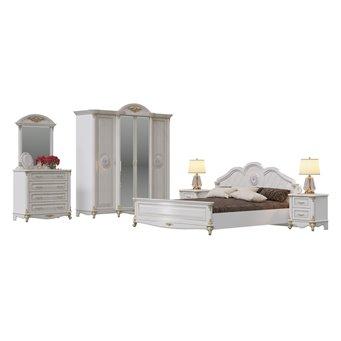 Мебель в спальню Да Винчи 01ОРТ цвет патина белый