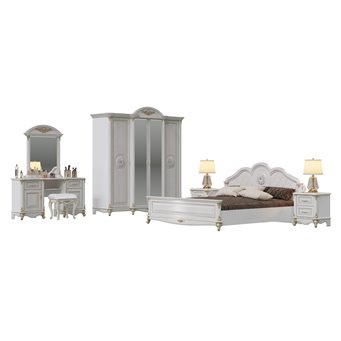Мебель в спальню Да Винчи 02ОРТ цвет патина белый