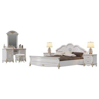 Гарнитур спальный Да Винчи 03ОРТ цвет патина белый
