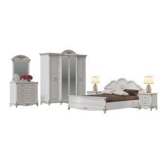 Гарнитур спальный Да Винчи 06ОРТ цвет патина белый