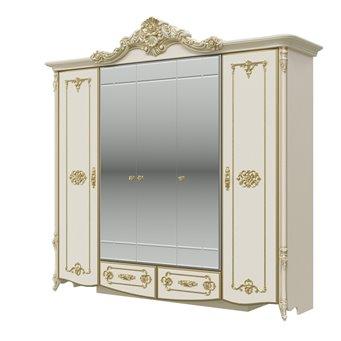 Дольче Вита СДВ-01 Шкаф 5-ти дверный, цвет слоновая кость/золото