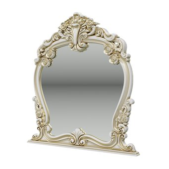 Дольче Вита СДВ-06 Зеркало, цвет белый глянец с золотом