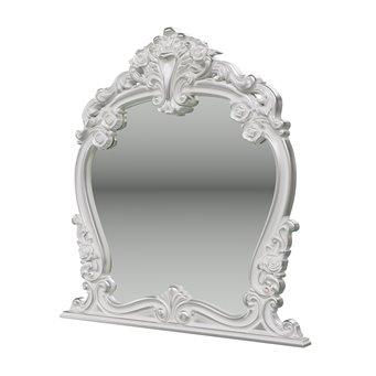 Дольче Вита СДВ-06 Зеркало, цвет белый глянец с серебром