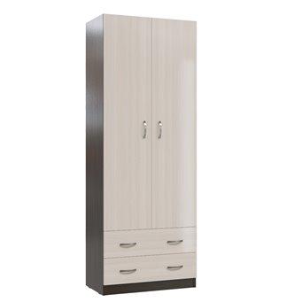 Шкаф с ящиками Мэри МК-3 цвет дуб молочный/дуб венге