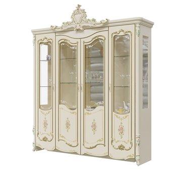 Шкаф 4-х дверный Шейх ГШ-05 цвет слоновая кость