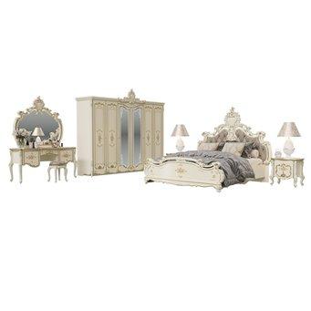 Гарнитур спальный Шейх № 2ОРТ цвет слоновая кость