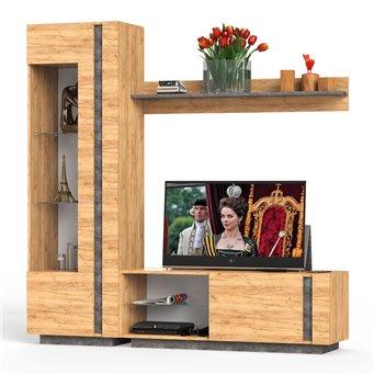 Арчи комплект мебели для гостиной № 5 цвет дуб крафт золотой/камень тёмный
