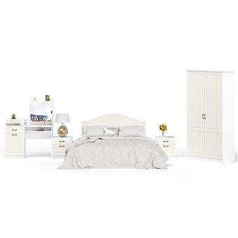Гарнитур спальный Ливерпуль № 3 цвет ясень ваниль/белый