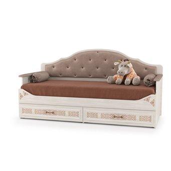 Кровать с выкатными ящиками Флоренция 11.07, цвет ясень анкор светлый
