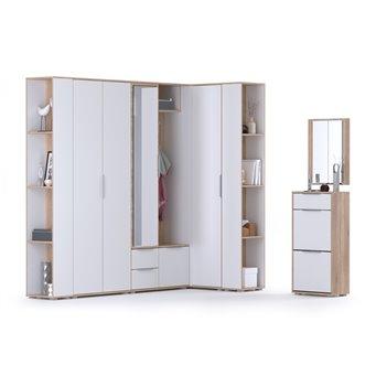 Мебель в прихожую серии Куба № 15 цвет дуб сонома/белый премиум