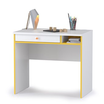 Письменный стол Альфа 12.41 цвет солнечный свет/белый премиум