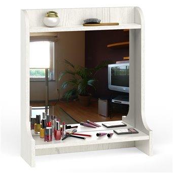 Полка с зеркалом настольная Ливерпуль 10.118 цвет ясень ваниль