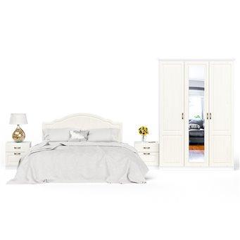 Спальня Ливерпуль № 1 цвет ясень ваниль/белый