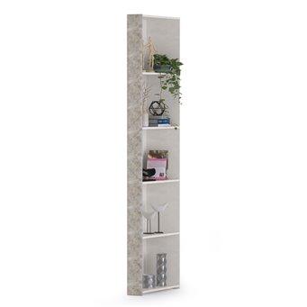Стеллаж Амели Моби 13.140 цвет шёлковый камень/бетон чикаго беж